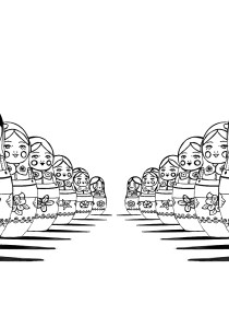 Russian dolls - Coloring Pages for Adults2