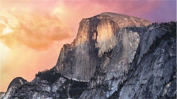 New OS x 10.10 Yosemite Wallpaper