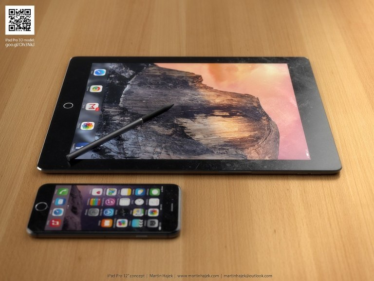 Concept Renders of the Rumored 12-Inch iPad with Stylus