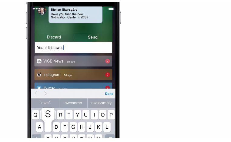 iOS 8 Notification Center Redesign Concept