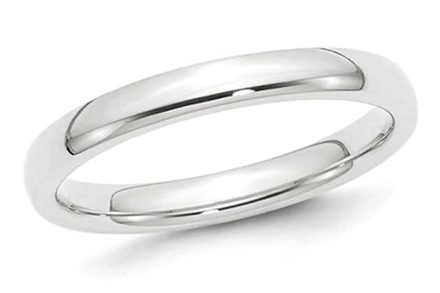 Ladies Platinum Comfort Fit 3mm Wedding Band – 8.5 for $599