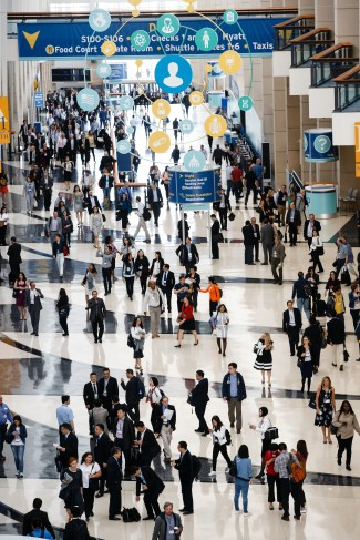 Chicago, IL - 2017 ASCO Annual Meeting - General views of Attendees during General Views at the American Society of Clinical Oncology (ASCO) Annual Meeting here today, Saturday June 3, 2017. Over 40,000 physicians, researchers, and healthcare professionals from over 100 countries are attending the 53rd Annual Meeting, which is being held at McCormick Place. The ASCO Annual Meeting highlights the latest findings in all major areas of oncology, from basic to clinical and epidemiological studies. Photo by © ASCO/Brian Powers 2017 Technical Questions: todd@medmeetingimages.com; ASCO Contact: photos@asco.org