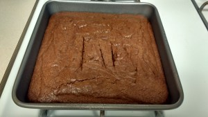 The square baking pan works great if you're not making icing!