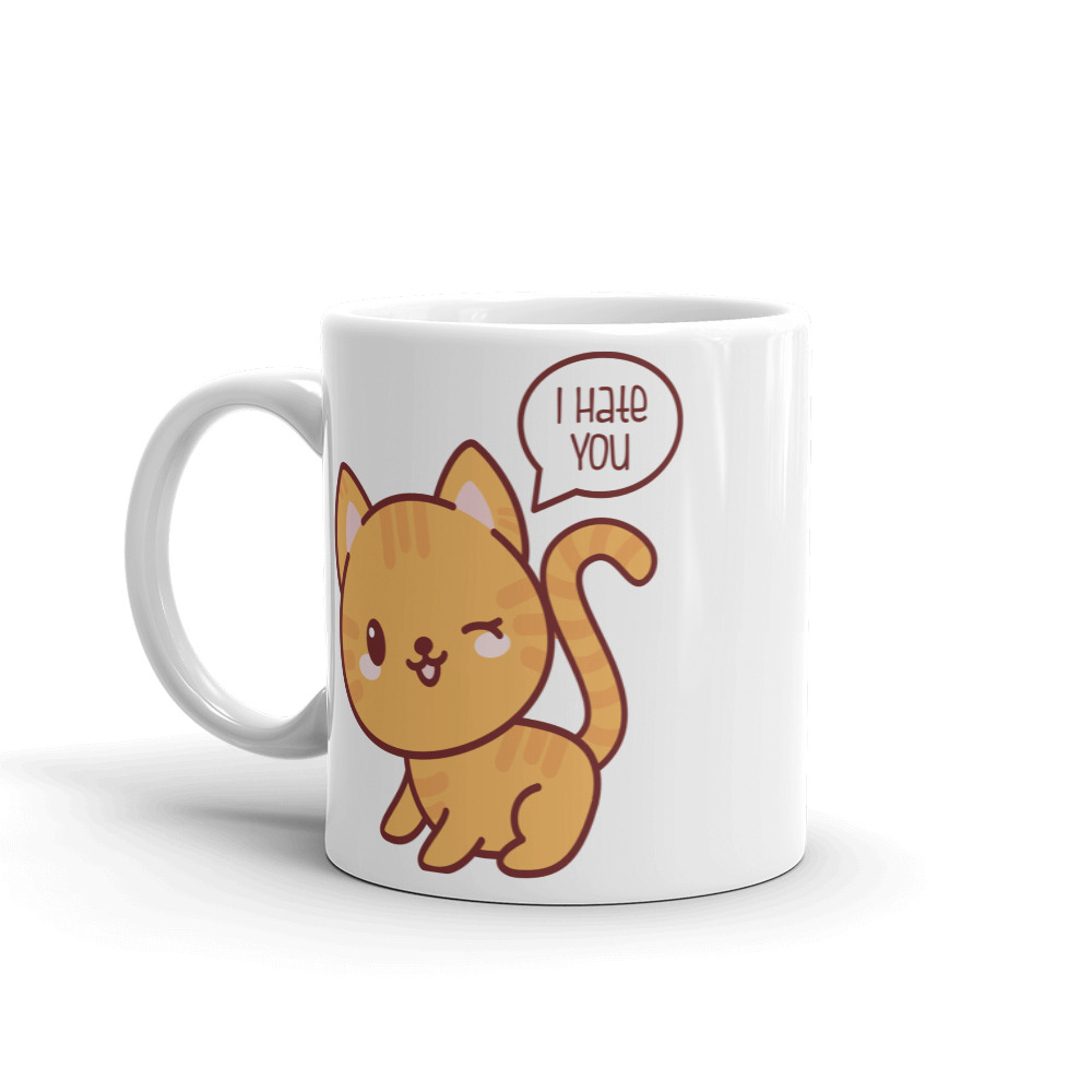 I Hate You Cat Coffee Mug