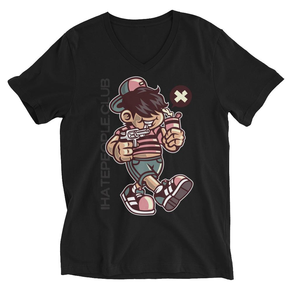 Gun Kid I Hate People T-Shirt
