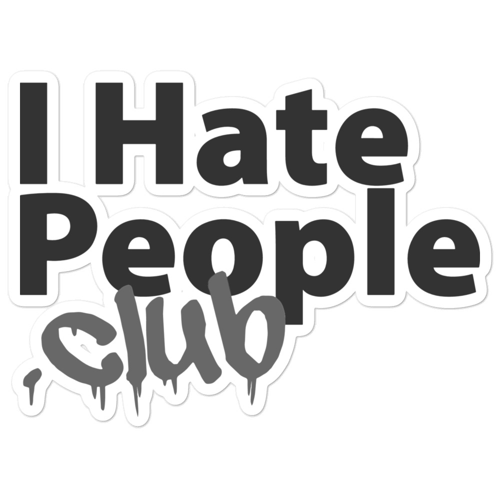 I Hate People Logo Sticker