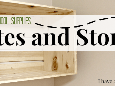 Crates and Storage: 31 Days of Homeschool Supplies