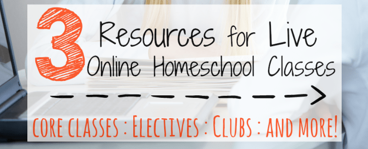 3 Resources for Live Online Homeschool Classes : 31 Days of Homeschool Supplies