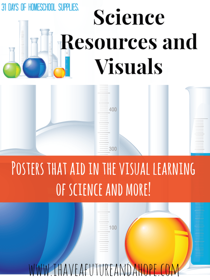 31Days of Homeschool Supplies: Science Resources and Visuals