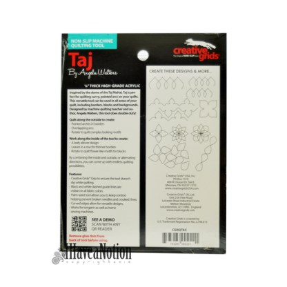Taj Longarm Template Ruler illustrated