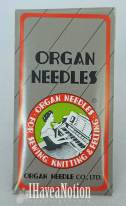 a package of Organ Brand Needles