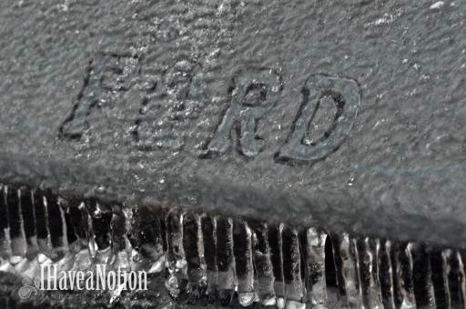Iced Ford truck