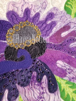 Detail of the Purple Flower beads
