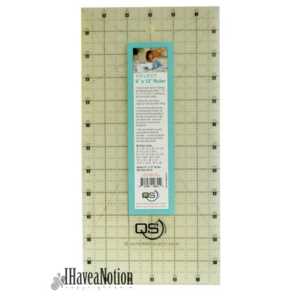 Quilters Select 6x12 inch rotary ruler