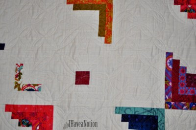 Detail of Peeling Away Quilt