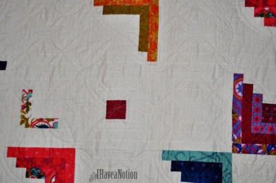 Detail of Peeling Away Quilt