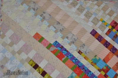 Detail of the Stripey Strip Quilt