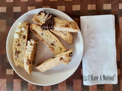 biscotti on a plate