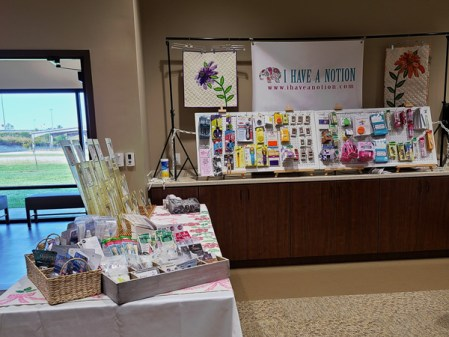 booth fall view left side
