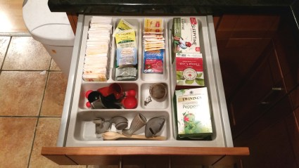 A tea drawer as inspired by our friend Lauren