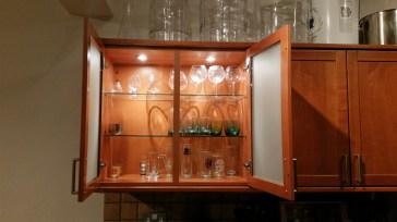 Hilarious glassware cabinet