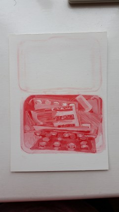 First aid kit painting