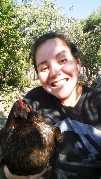 My San Pablo chicken: the foxes got her a few days after I left