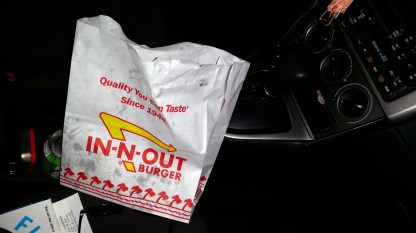 In-n-out for Masoni, raw onions for Grandma