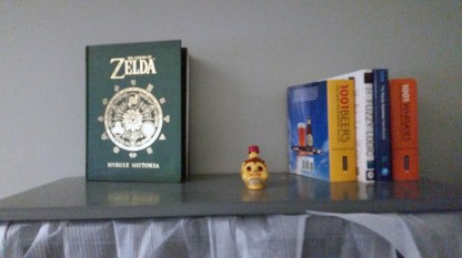 Telltale's shrine to David (Dave said he'd bring your book to us in the UK)