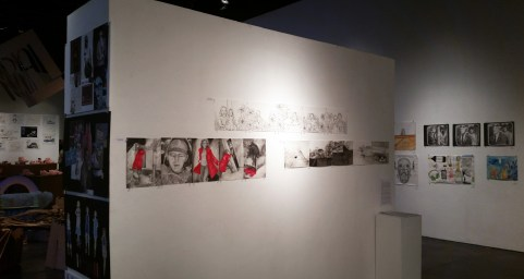 A few projects from my Drawing class' exhibition