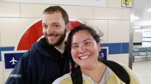 David met me at the airport despite the fact that I arrived at 7 AM.