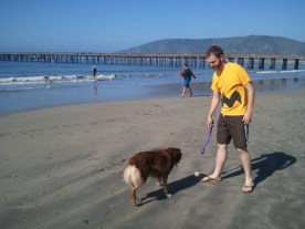 Visiting Leah in San Luis Obispo & learning to love the beach