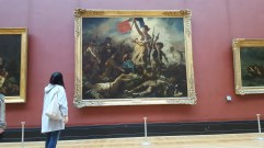 Delacroix's Liberty Leading the People at the Louvre. You turned your back on paintings of the French imperialism to view it. That made me shudder.