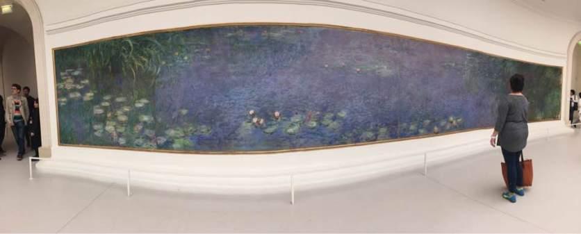 Losing my mind at Musee l'Orangerie in Monet's waterlilies.