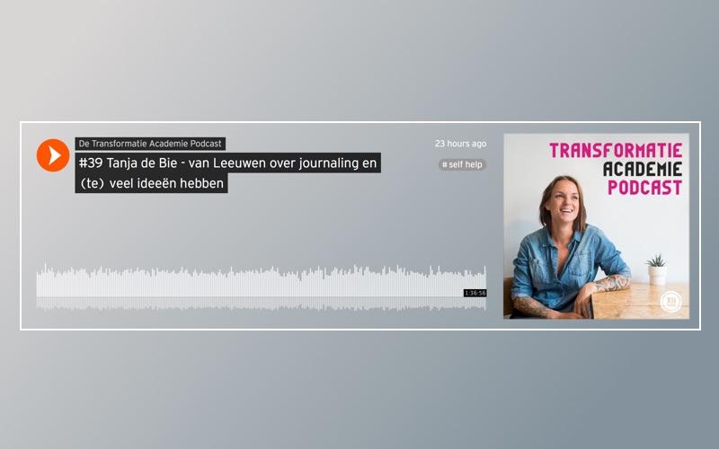 Podcast optreden over journaling en het hebben van (te) veel ideeën
