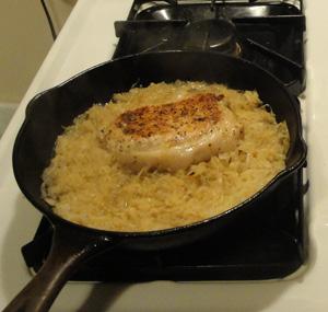 pork chop with sauerkraut