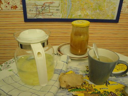 ginger tea lemon honey