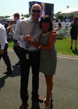 Here's Simon with his wife Libby, the 1,127th writer for the site!  Don't he look great!