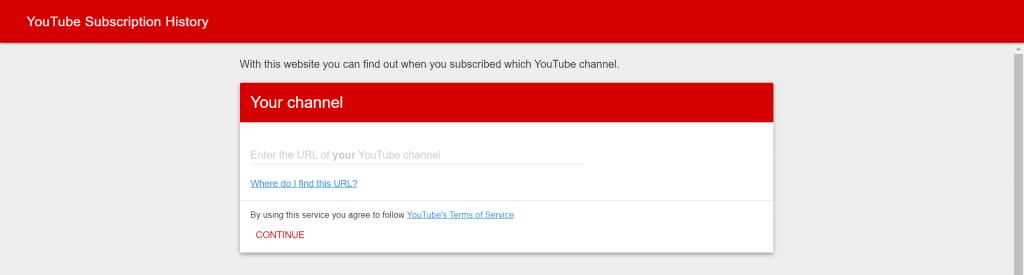 Finden Sie heraus, wann Sie einen Youtube-Kanal abonniert haben