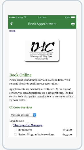 Book appointment on IHC App