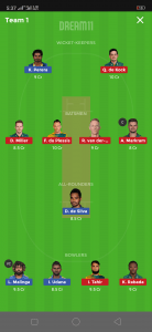 SA vs SL Dream11 Team for Grand league