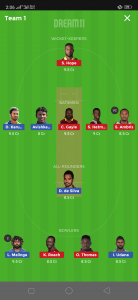 SL vs WI Dream11 Team for today's match