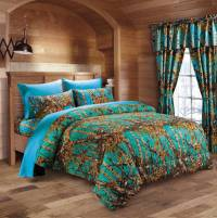 Teal Camo Bed In A Bag Set - The Swamp Company
