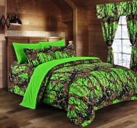 Day-Glow Green Camo Bed In A Bag Set - The Swamp Company