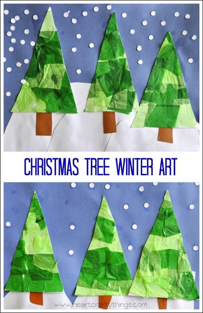 Kids Projects Christmas Art Tree