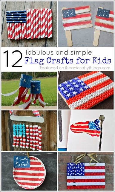 12 Fabulous American Flag Crafts For Kids I Heart Crafty