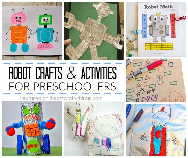 creative preschool robot crafts