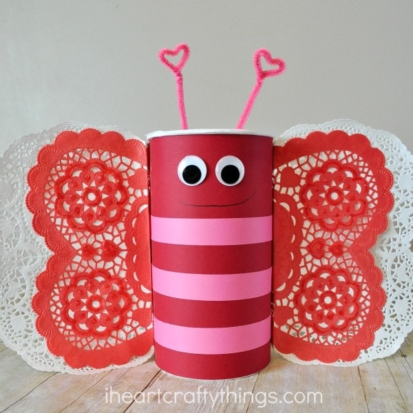 How To Make A Butterfly Valentines Day Mailbox I Heart