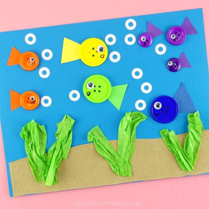 Simple Button Fish Craft For Kids Easy Summer Kids Craft