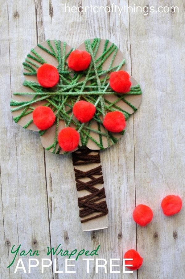 Yarn Wrapped Apple Tree Craft I Heart Crafty Things